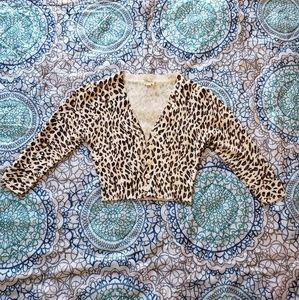 Leopard Cover Up Sweater